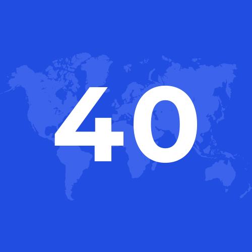 Мережа компанії в більш ніж 40 країнах Brother