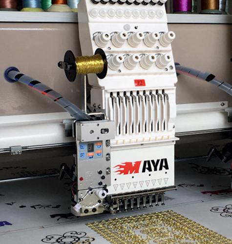 Опциональные устройства для промышленных вышивальных машин Maya